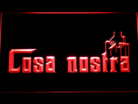 Image of Cosa Nostra LED Neon Sign - Red - SafeSpecial