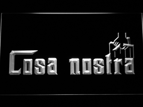 Image of Cosa Nostra LED Neon Sign - White - SafeSpecial