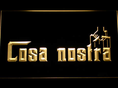 Image of Cosa Nostra LED Neon Sign - Yellow - SafeSpecial