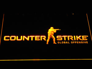 Counter-Strike LED Neon Sign - Yellow - SafeSpecial