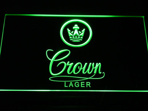 Crown Lager LED Neon Sign - Green - SafeSpecial