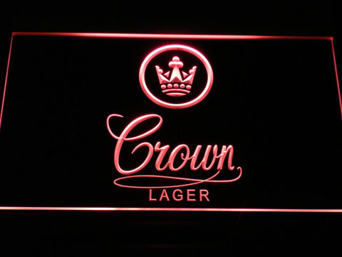 Crown Lager LED Neon Sign - Red - SafeSpecial