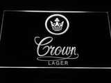 Crown Lager LED Neon Sign - White - SafeSpecial