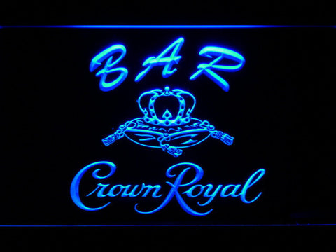 Image of Crown Royal Bar LED Neon Sign - Blue - SafeSpecial