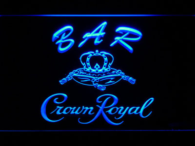 Crown Royal Bar LED Neon Sign - Blue - SafeSpecial