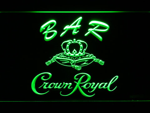 Image of Crown Royal Bar LED Neon Sign - Green - SafeSpecial