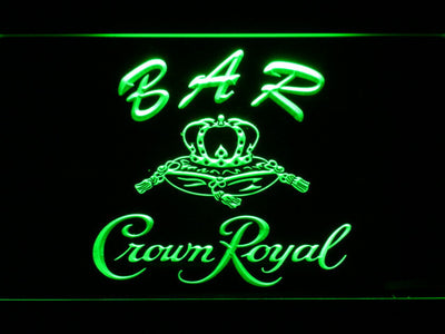 Crown Royal Bar LED Neon Sign - Green - SafeSpecial