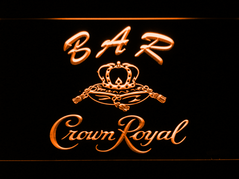 Image of Crown Royal Bar LED Neon Sign - Orange - SafeSpecial