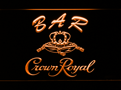 Crown Royal Bar LED Neon Sign - Orange - SafeSpecial