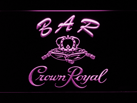 Image of Crown Royal Bar LED Neon Sign - Purple - SafeSpecial