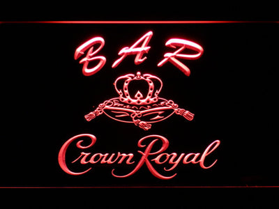 Crown Royal Bar LED Neon Sign - Red - SafeSpecial