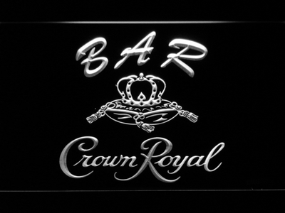 Crown Royal Bar LED Neon Sign - White - SafeSpecial