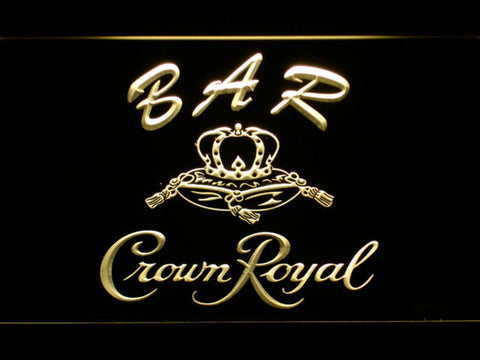 Crown Royal Bar LED Neon Sign - Yellow - SafeSpecial