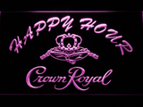 Crown Royal Happy Hour LED Neon Sign - Purple - SafeSpecial