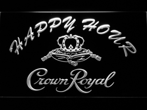 Image of Crown Royal Happy Hour LED Neon Sign - White - SafeSpecial