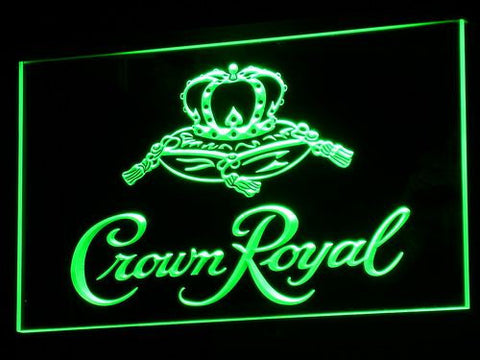 Image of Crown Royal LED Neon Sign - Green - SafeSpecial