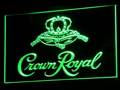 Crown Royal LED Neon Sign - Green - SafeSpecial