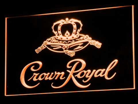 Image of Crown Royal LED Neon Sign - Orange - SafeSpecial
