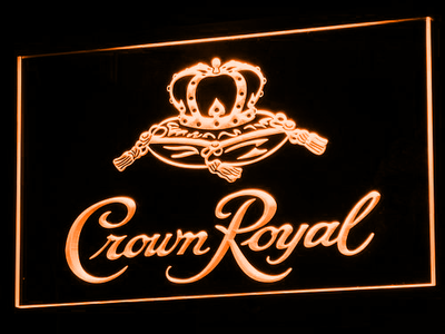 Crown Royal LED Neon Sign - Orange - SafeSpecial