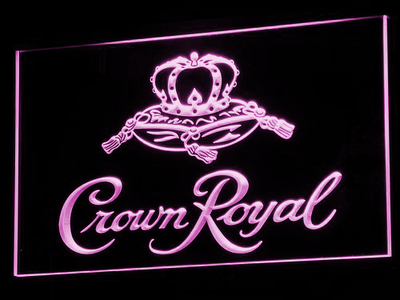 Crown Royal LED Neon Sign - Purple - SafeSpecial