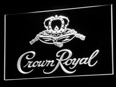 Crown Royal LED Neon Sign - White - SafeSpecial