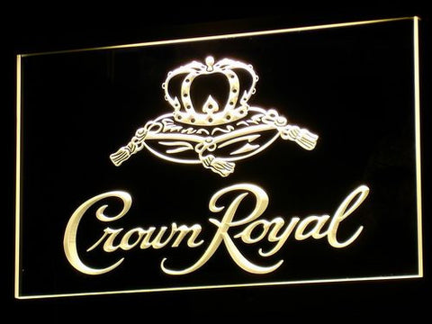 Image of Crown Royal LED Neon Sign - Yellow - SafeSpecial