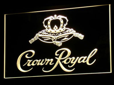 Crown Royal LED Neon Sign - Yellow - SafeSpecial