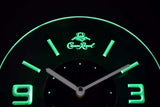 Crown Royal Modern LED Neon Wall Clock - Green - SafeSpecial