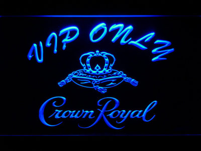 Crown Royal VIP Only LED Neon Sign - Blue - SafeSpecial