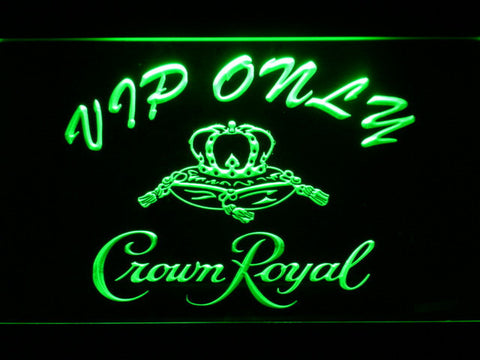 Image of Crown Royal VIP Only LED Neon Sign - Green - SafeSpecial