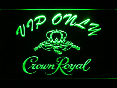 Crown Royal VIP Only LED Neon Sign - Green - SafeSpecial