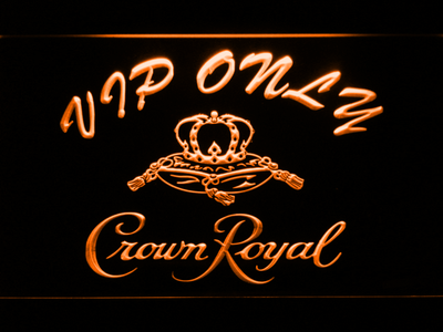 Crown Royal VIP Only LED Neon Sign - Orange - SafeSpecial