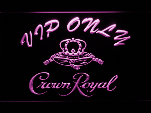 Image of Crown Royal VIP Only LED Neon Sign - Purple - SafeSpecial