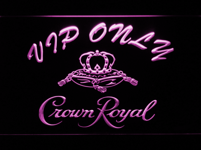 Crown Royal VIP Only LED Neon Sign - Purple - SafeSpecial