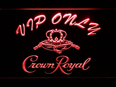 Crown Royal VIP Only LED Neon Sign - Red - SafeSpecial