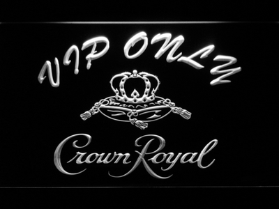 Crown Royal VIP Only LED Neon Sign - White - SafeSpecial