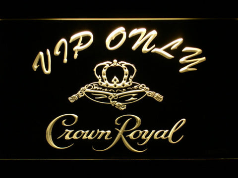 Image of Crown Royal VIP Only LED Neon Sign - Yellow - SafeSpecial