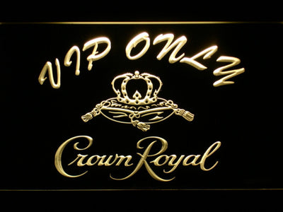 Crown Royal VIP Only LED Neon Sign - Yellow - SafeSpecial
