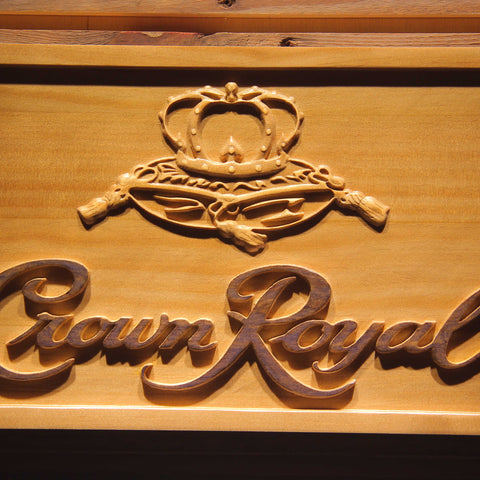 Crown Royal Wooden Sign - - SafeSpecial