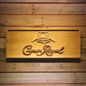 Crown Royal Wooden Sign - Small - SafeSpecial