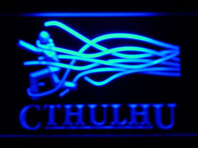 Cthulhu LED Neon Sign - Blue - SafeSpecial