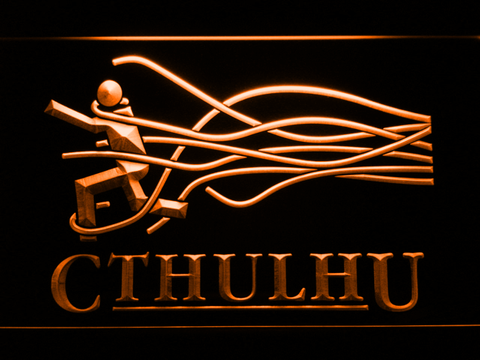 Image of Cthulhu LED Neon Sign - Orange - SafeSpecial