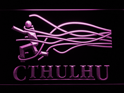 Cthulhu LED Neon Sign - Purple - SafeSpecial