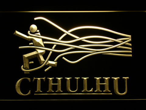 Image of Cthulhu LED Neon Sign - Yellow - SafeSpecial