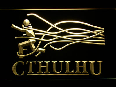 Cthulhu LED Neon Sign - Yellow - SafeSpecial