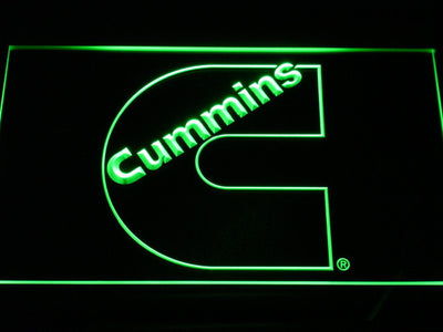 Cummins LED Neon Sign - Green - SafeSpecial