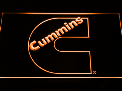 Cummins LED Neon Sign - Orange - SafeSpecial