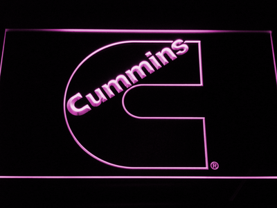 Cummins LED Neon Sign - Purple - SafeSpecial
