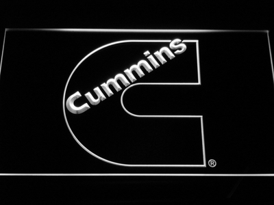 Cummins LED Neon Sign - White - SafeSpecial