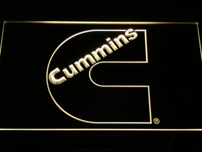 Cummins LED Neon Sign - Yellow - SafeSpecial